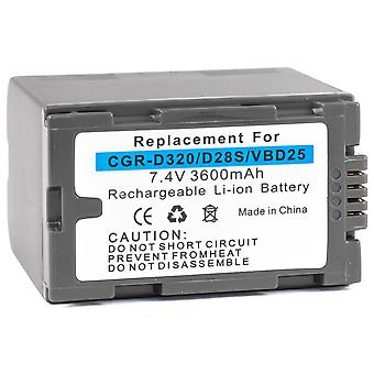 Batteri til Panasonic CGR-D320 CGR-D28 cgr-d08r cgr-d220 cgr-d120 cgr-d16 cgr-d08 cgr-d16s cgp-d28a