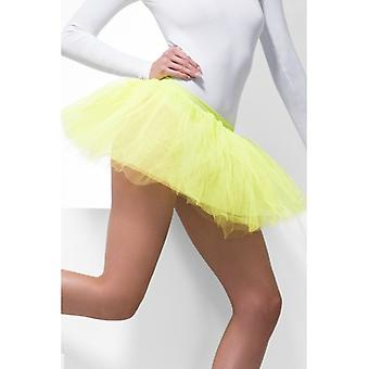 Womens Neon Yellow Tutu Underskirt  Fancy Dress Accessory