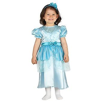 Toddlers Blue Princess Fancy Dress Costume