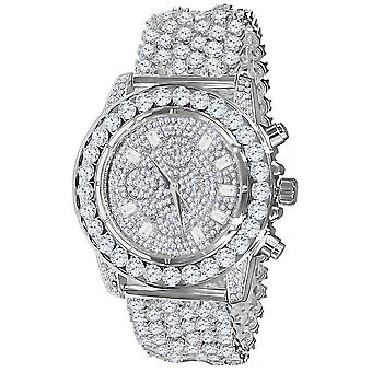 High quality FULL ICED OUT cubic ZIRCONIA Watch - Silver