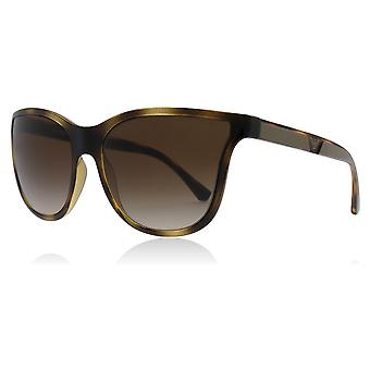 Emporio Armani EA4112 502613 Dark Havana EA4112 Butterfly Sunglasses Lens Category 3 Size 57mm