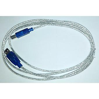 USB Printer Scanner Cable Silver 2M 2.0 A-Male To B-Male New High Speed Premium