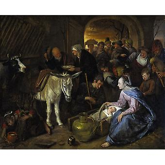 The Adoration of the Shepberds,Jan Steen,53x64cm