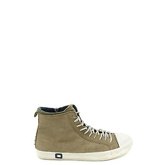 D.a.t.e. Green Leather Hi Top Sneakers