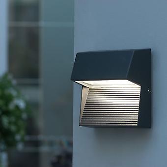 LuTec radio cuadrado 9W Exterior de LED de bajo nivel de la pared luz o paso en grafito