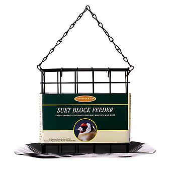 Johnston & Jeff Suet Block Bird Feeder With Tray