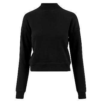 Urban Classics Damen Sweatshirt Short Interlock Crew