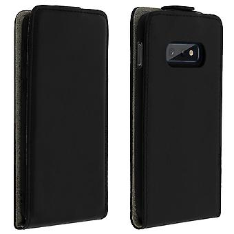 Samsung Galaxy S10e Case Vertical Flip Card Holder Black