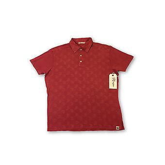 Agave Lux 'Yin Yang-P' polo shirt in red