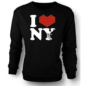 Mens Sweatshirt I Love Heart New York - NY