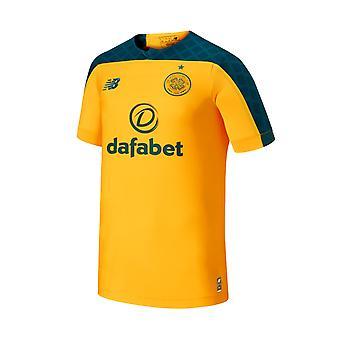 New Balance Celtic FC 2019/20 Mens Short Sleeve Away Football Shirt Yellow/Green