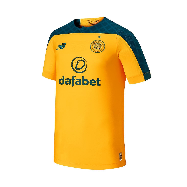 nouveau   Celtic FC 2019 20 Hommes manche courte Away Maillot de football Jaune Vert