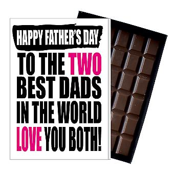 Funny Gay Man LGBT Father's Day Gift Chocolate Present For Two Dad DADIYF147