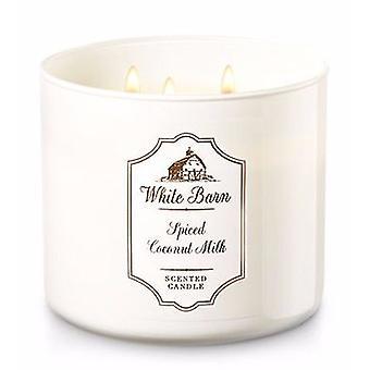 Bath & Body Works Spiced Coconut Milk 3 Wick Candle 14.5 oz / 411 g