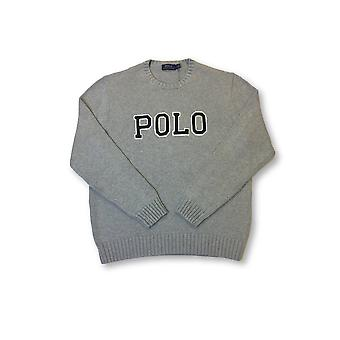 Ralph Lauren Polo knitwear in grey with black brand logo