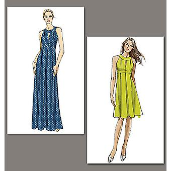 Misses' Dress  Aa 6  8  10  12 Pattern V8574  Aa0