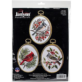 Winter Birds Embroidery Kit Set Of 3-3