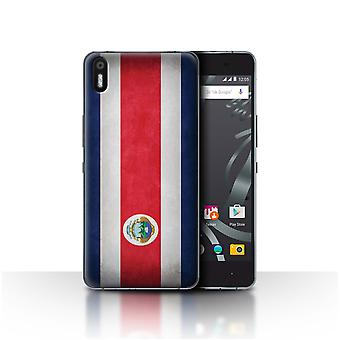 STUFF4 Case/Cover for BQ Aquaris X5/Costa Rica/Rican/Flags