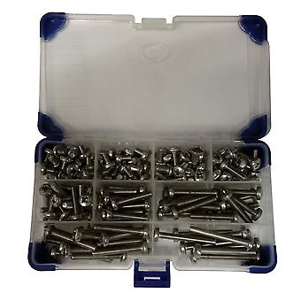 125 Piece Pozi Pan Machine Set Screws A2 Stainless Steel M5 5MM