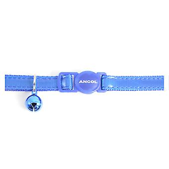 Safety Buckle Cat Collar Gloss Reflective Blue (Pack of 3)