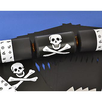 8 Black Kids Pirate Make & Fill Your Own Party Crackers Kit