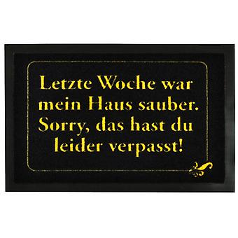Mats 'Last week my house was clean' | Door mat floor mat