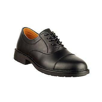 Amblers Chepstow Mens Oxford Leather Lace Up Shoes Oil Resistant Male Footwear