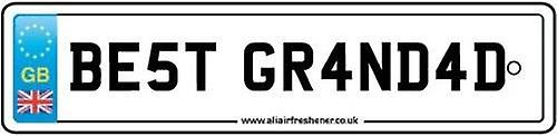 Best Grandad Numberplate Car Air Freshener