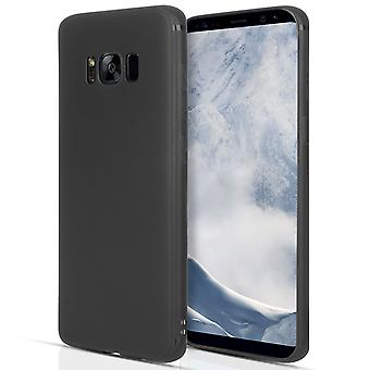 Samsung Galaxy S8 Plus Matte Silicone Gel Case Black