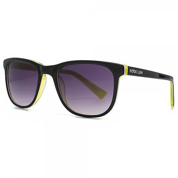 Hook LDN Rhapsody Sunglasses In Black On Lime Yellow