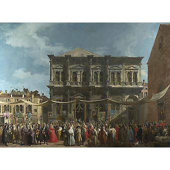 Canaletto--إيل يوم العيد Giclee طباعة ملصق روش ش