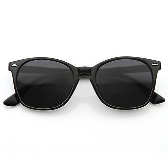 Vintage Inspired Round Horn Rimmed Key Hole Bridge Horn Rimmed Sunglasses