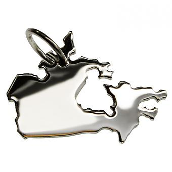 Trailer map Canada pendant in solid 925 Silver