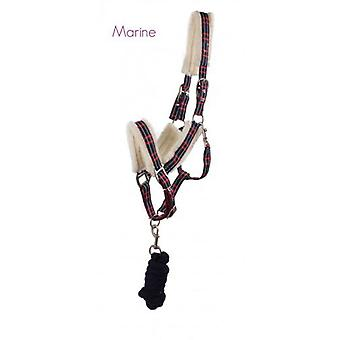 QHP Bridle with Fur Full Ramal Marino