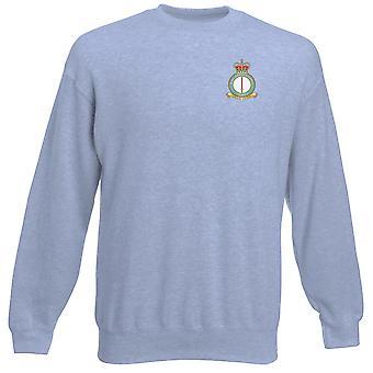 Leeming RAF Station Embroidered Logo - Official Royal Air Force Heavyweight Sweatshirt