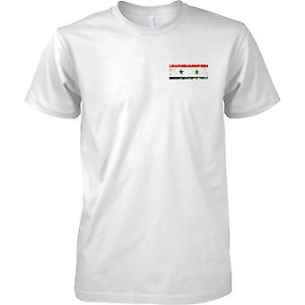 Syria Grunge Country Name Flag Effect - Kids Chest Design T-Shirt