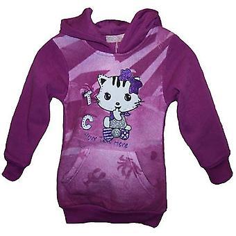 Girls Jumper Cat / kitty hoodie Fleece