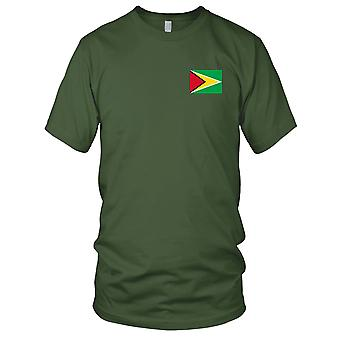 Guyana land nationale Flag - broderet Logo - 100% bomuld T-Shirt Herre T-shirt