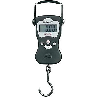 Hanging scales VOLTCRAFT HS-50 Weight range 50 kg Readability 20