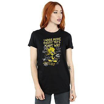 Looney Tunes Women's Tweety Pie More Puddy Tats Boyfriend Fit T-Shirt
