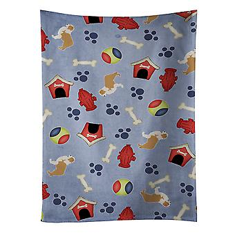 Red Border Collie Dog House Collection Kitchen Towel