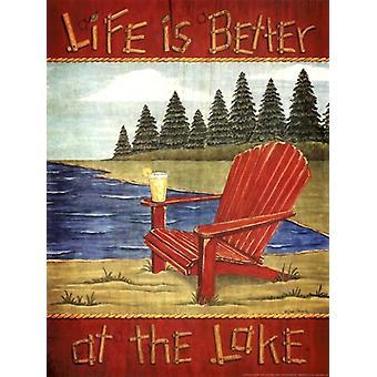 At The Lake Poster Print by Deb Strain (12 x 16)