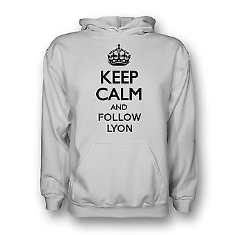 Garder calme et suivre Lyon Hoody (blanc)