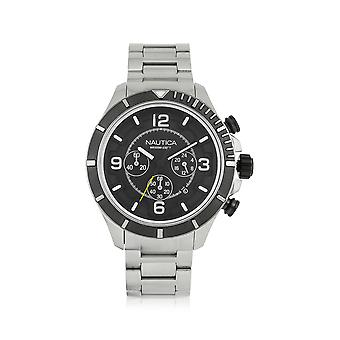 Nautica men's NAI21506G silver steel watch