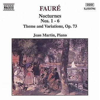 G. Faure - Faur : Nocturnes Nos. 1-6 / Theme & Variations, Op. 73 [CD] USA import