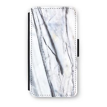 iPhone X Flip Case - Striped marble