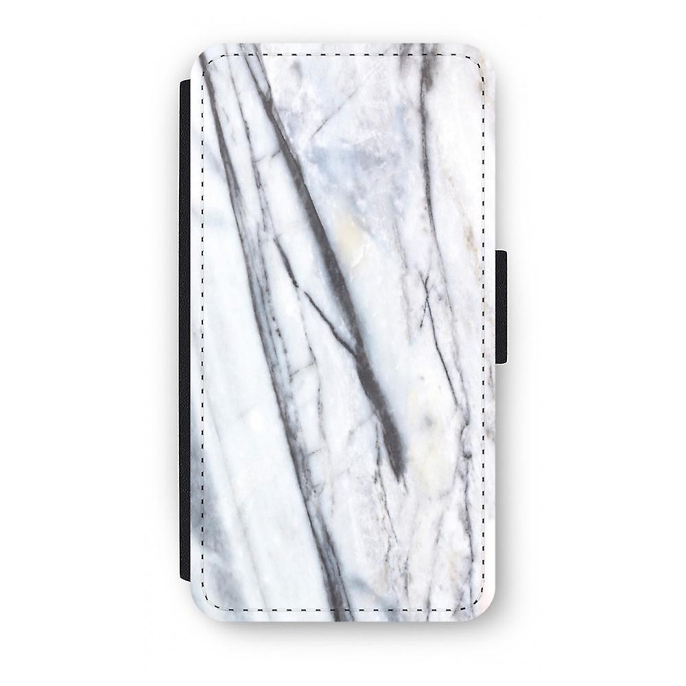 iPhone X Flip Case - gestreiften Marmor