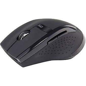 Wireless mouse Optical Renkforce BX6600 Black