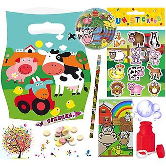 Pre Filled Ready Made Party Bag - Unisex - Farm (Single)