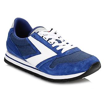 Brooks Mens Navy Blue/White Chariot Trainers